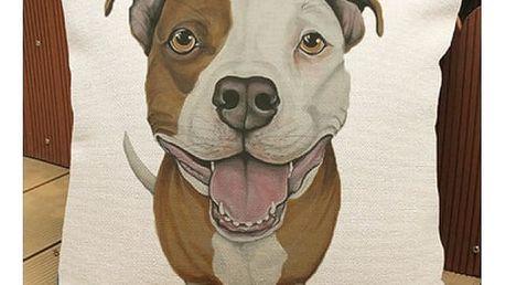 Lněný povlak na polštářek Pes