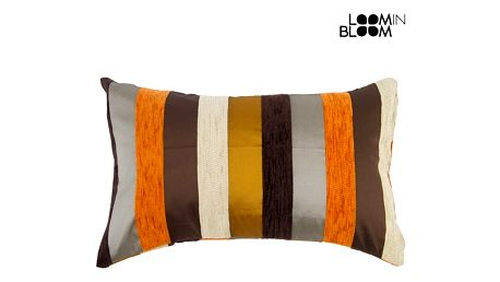 Oranžový polštářek motegi - Colored Lines Kolekce by Loom In Bloom