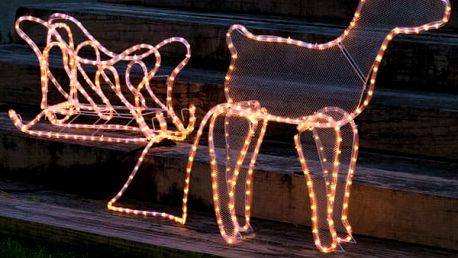 Vánoční Sob se Sáněmi 504 LED