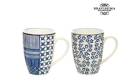 Set 2 Hrnků Porcelán Modrý 2 pcs - Queen Kitchen Kolekce by Bravissima Kitchen