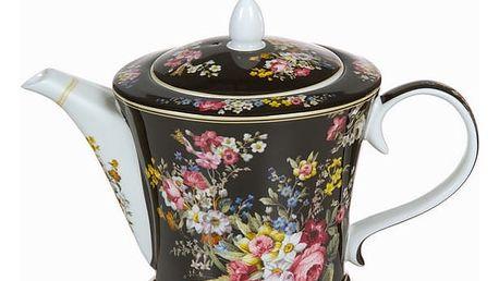Černá porcelánová tajemná konvice bloom - Kitchens Deco Kolekce by Bravissima Kitchen