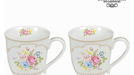Bílá sada 2 hrnků s krabičkou bouquet - Kitchens Deco Kolekce by Bravissima Kitchen