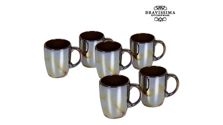 Set of jugs China crockery Kaštanová 6 pcs - Kitchens Deco Kolekce by Bravissima Kitchen