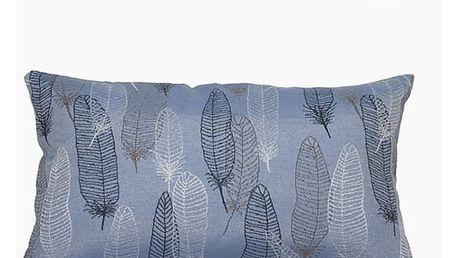 Polštářek Modrý 50 x 30 cm - Jungle Kolekce by Loom In Bloom