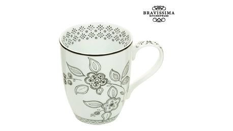 Cup Porcelán Flowers - Kitchens Deco Kolekce by Bravissima Kitchen