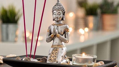 Dekorační Set Buddha se Svíčkou a Vonnými Tyčinkami Oh My Home 9 částí
