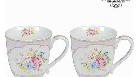 Růžová sada 2 hrnků s krabičkou bouquet - Kitchens Deco Kolekce by Bravissima Kitchen