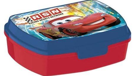 Dětský box na svačinu Auta Banquet modrá 17 x 12 cm