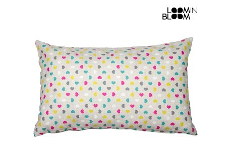 Cuore pink cushion by Loom In Bloom