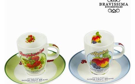 Sada 2 hrnků s talířem a krabičkou fruits - Kitchens Deco Kolekce by Bravissima Kitchen