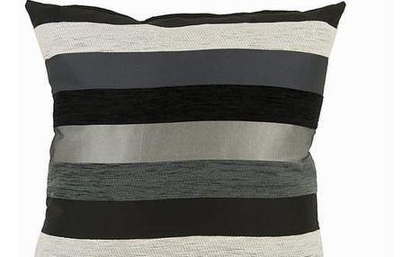 Černý polštářek motegi - Colored Lines Kolekce by Loom In Bloom