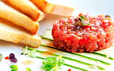Rybí degustační menu o 5 chodech pro dva