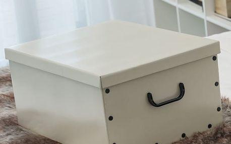 Úložná Kartonová Krabice s Víkem a Uchy Big Classic Oh My Home