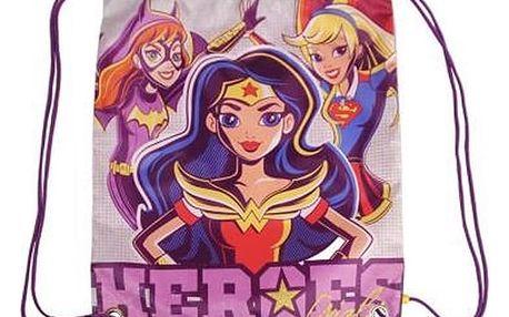 Batoh se šnůrkami DC Super Hero Girls 054