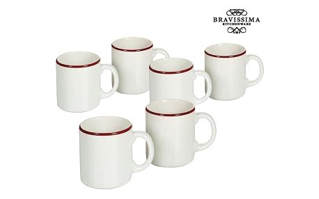Set of jugs China crockery Bílý Burgundská 6 pcs - Kitchens Deco Kolekce by Bravissima Kitchen