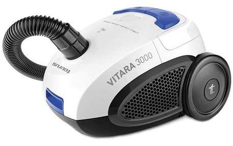 Sáčkový vysavač Taurus Vitara 3000 New 2 L 800W 80 dB B Černý Modrý Bílý
