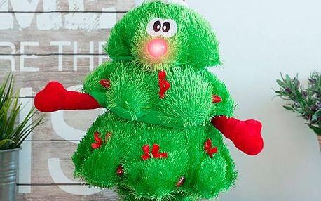 Zpívající a Tancující Vánoční Stromeček s LED