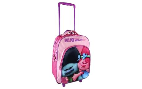 Školní taška na kolečkách 3D Trolls 361