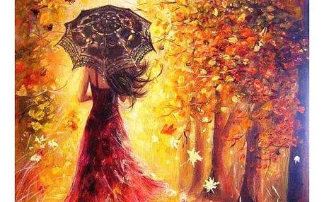 DIY obraz s podzimním motivem