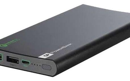 GP powerbank 10.000 mAh - Quick Charge 2.0 černá - FP10MB
