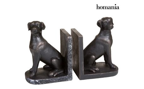 Set of 2 dog book ends by Homania