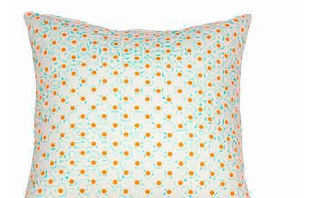 Polštářek Puntíky Oranžový 60 x 60 cm - Little Gala Kolekce by Loom In Bloom