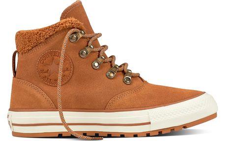 Converse oříškové kožené tenisky Chuck Taylor All Star Ember Boot Hi Hazelnut