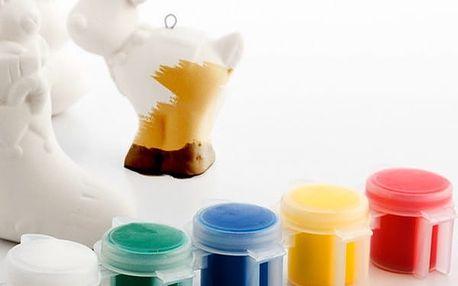Vánoční Figurky k Omalování 6 kusů