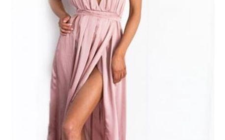 Dámské šaty s rozparkem - 7 barev