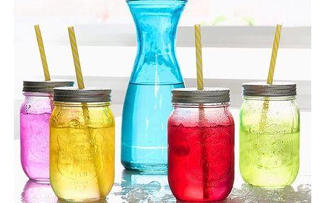 Láhev se 4 Sklenicemi Vintage Colors Bravissima Kitchen