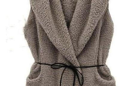 Měkoučká vesta s kapucí - 4 barvy