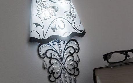 LED Samolepka na Zeď Butterfly