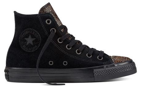 Converse černé kožené tenisky Chuck Taylor All Star Hi Black