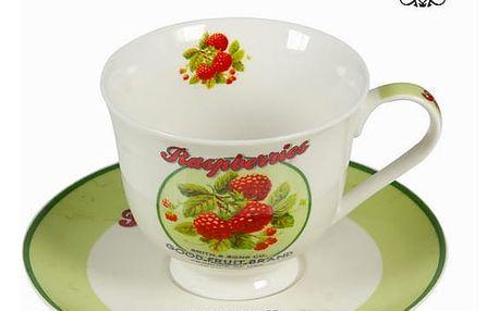 Čajový šálek s podšálkem a krabičkou fruits - Kitchens Deco Kolekce by Bravissima Kitchen