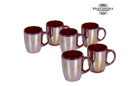 Set of jugs China crockery Burgundská 6 pcs - Kitchens Deco Kolekce by Bravissima Kitchen