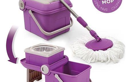 Spin Tastic Mop a Skládací Kbelík bez Pedálu
