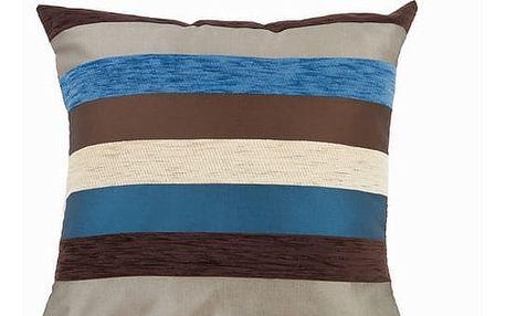 Modrý polštářek motegi - Colored Lines Kolekce by Loom In Bloom
