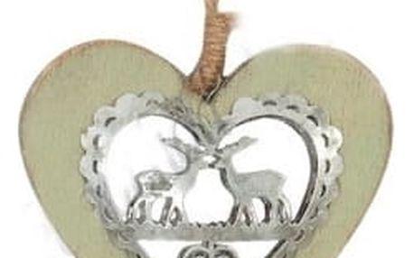 Dřevěné dekorační srdce