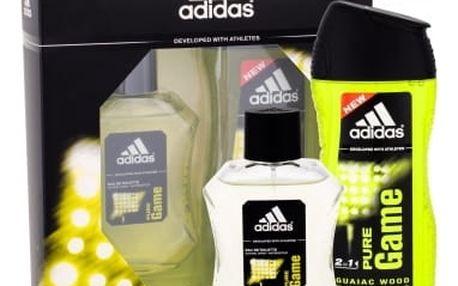 Adidas Pure Game dárková kazeta pro muže toaletní voda 100 ml + sprchový gel 250 ml
