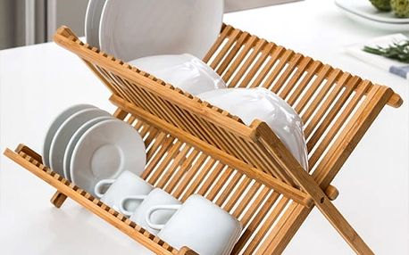 Bambusový Odkapávač na Nádobí