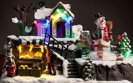 Osvětlená a Pohybující se Vánoční Krajina 12 LED