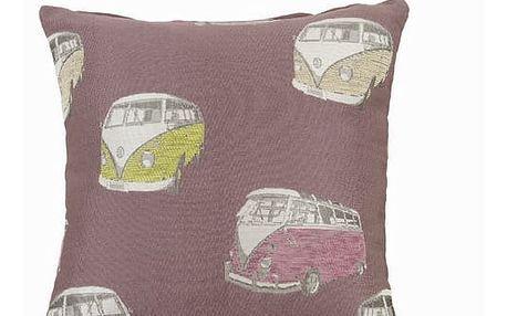 Purpurový polštářek florida by Loom In Bloom