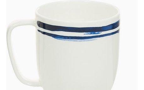 Cup Porcelán Pruhy Blue - Kitchens Deco Kolekce by Bravissima Kitchen