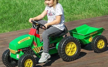 Dětský Traktor s Přívěsem a Pedály
