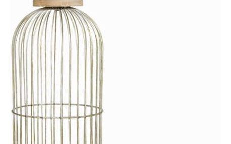 Dekorativní klec z šedého kovu - Art + Metal Kolekce by Homania