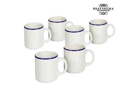 Set of jugs China crockery Bílý Námořnický modrý 6 pcs - Kitchens Deco Kolekce by Bravissima Kitchen
