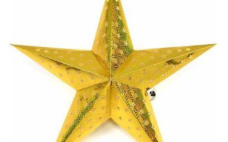 Nexos 43011 Vánoční dekorace - hvězda s časovačem - 45 cm ZLATÁ