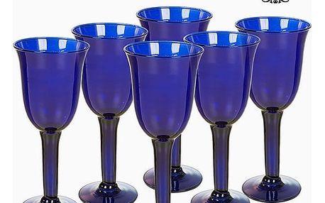 Sklenice z recyklovaného skla 6 pcs 350 ml Modrý - Crystal Colours Kitchen Kolekce by Bravissima Kitchen