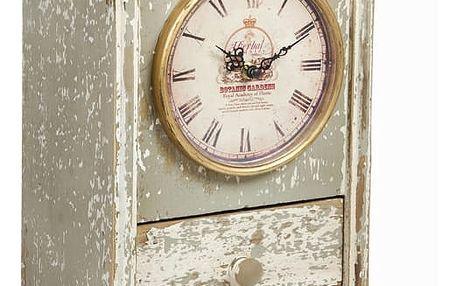 Šedé dřevěné stolní hodiny by Homania