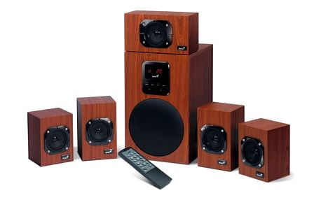 Reproduktory Genius SW-HF 4800 5.1 (31731048100) imitace dřeva